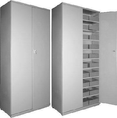 Шкаф металлический двухстворчатый картотечный